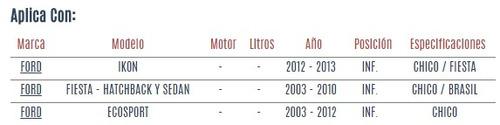 buje de horquilla inf ford fiesta hatchback 2003 - 2010 vzl