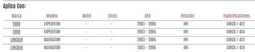 buje de horquilla inferior ford expedition 2003 - 2006 vzl