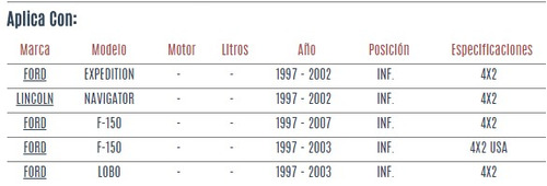 buje de horquilla inferior ford lobo 1997 - 2003 vzl