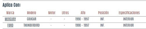 buje de horquilla inferior ford thunderbird 1990 - 1997 vzl