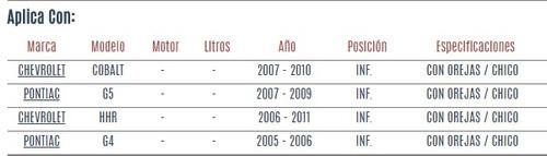 buje horquilla inferior chevrolet cobalt 2007 - 2010 vzl