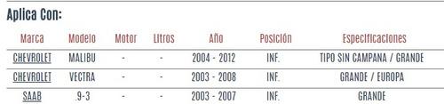 buje horquilla inferior chevrolet vectra 2003 - 2008 vzl