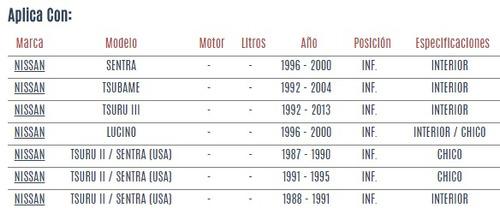buje horquilla inferior nissan lucino 1996 - 2000 vzl