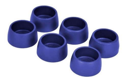 bujes arandelas volante 6 mm anodizados azul x 6 un c-shop