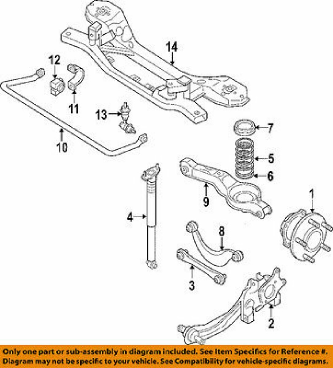 Bujes Suspencion Trasera Ford Edge 2007 A 2010