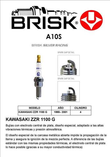 bujía a10s. moto kawasaki zzr 1100 g. año 98/ 2001. 4 cl