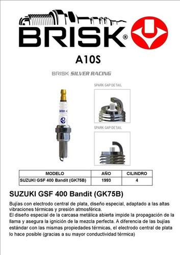 bujía a10s. moto suzuki gsf 400 bandit (gk75b). año 1993