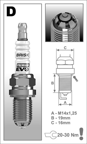 bujia brisk dr15scx /360 grados de doble chispa x 4 unidades