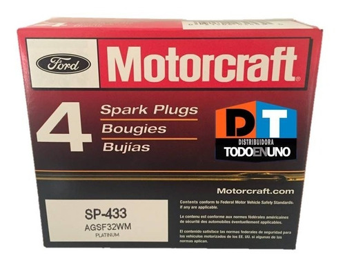 bujia motorcraft sp433 ford escape 2001 02 04 2005 2006 2007