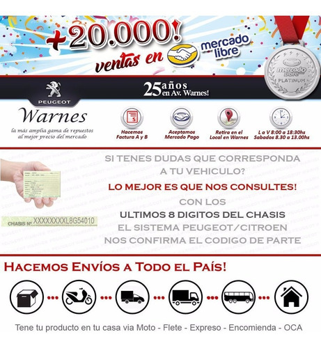 bujia precalentamiento 100% original peugeot 207 1.9 diesel