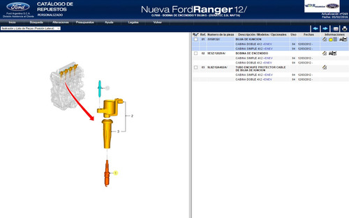 bujia ranger 2.5l s-max 2.3l mondeo 2.0duratec legitima ford