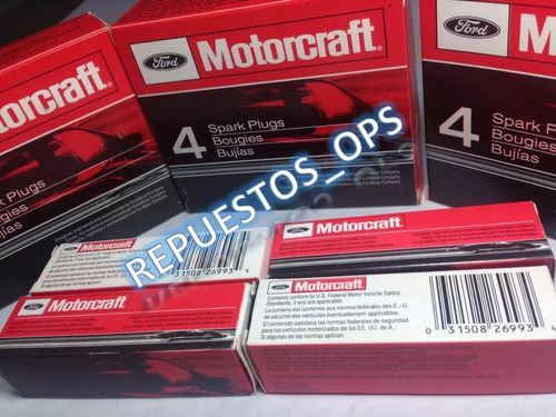 bujias motorcraft platinum fiesta/ka/ecosport/super duty 6.2