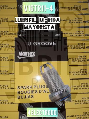 bujias vortex v16tr11-4 electrodos toyota corolla 1.6 1.8