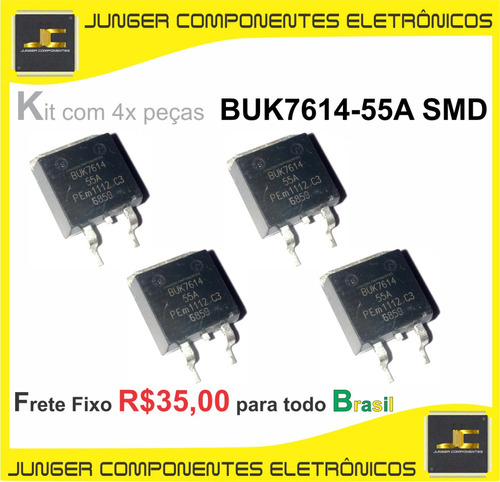 buk7614 - buk7614-55a - buk 7614-55 - to-263 - kit com 4x