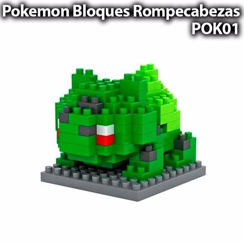 bulbasaur pokemon lego mini blocks rompecabezas armable