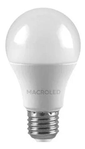 bulbo led 10w frio 1°marca 80% de ahorro x 10 unid macroled