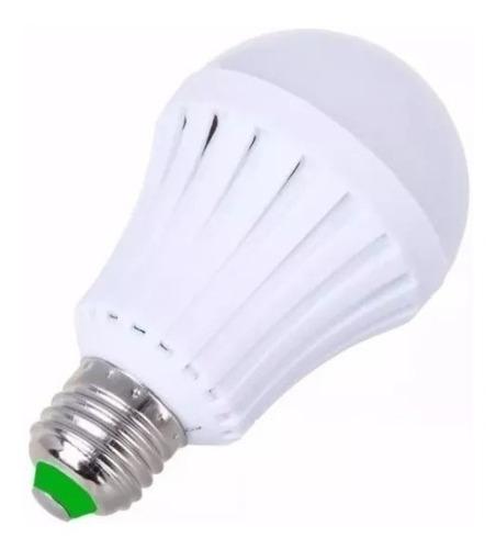 bulbo led 12w doble funcion: lampara y luz emergencia 4 hs