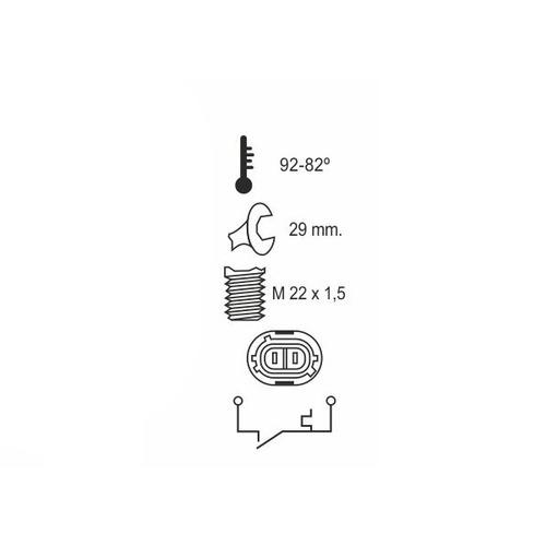 bulbo temperatura electroventilador renault clio 1 1.8 rsi