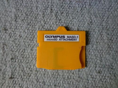 bulbocam adaptador de memoria xd para micro sd olympus