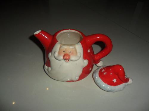 bule papai noel porcelana perfeito grande