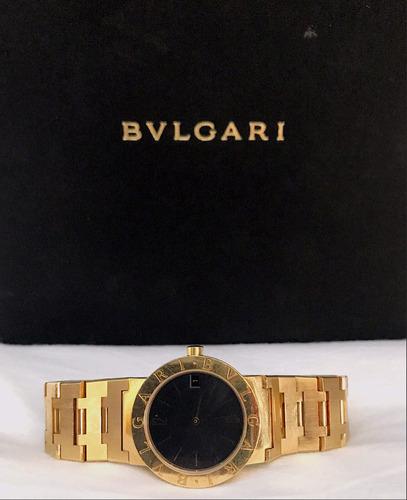 bulgari bvlgari bb30 todo em ouro amarelo 18k , na caixa!