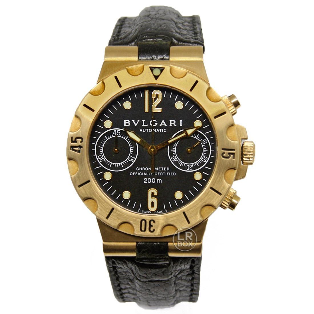 0e9cedf3fce bulgari diagono scuba ouro 18k bvlgari chronograph. Carregando zoom.
