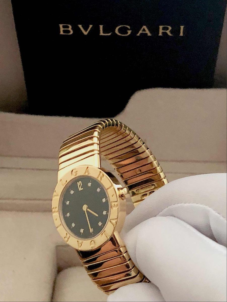 3d8ae868342 bulgari tubogas lady todo de ouro amarelo com diamantes !! Carregando zoom.