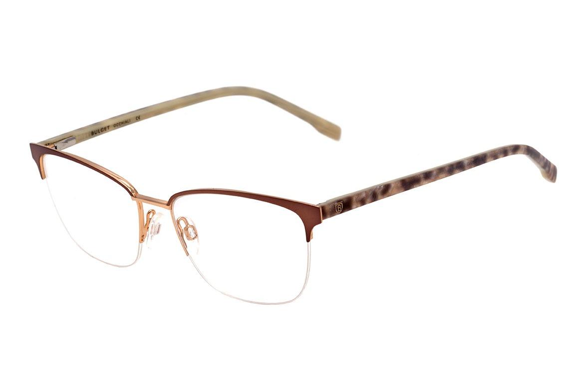 c714907c76756 bulget bg 1528 - óculos de grau 01a marrom e dourado brilho. Carregando  zoom.