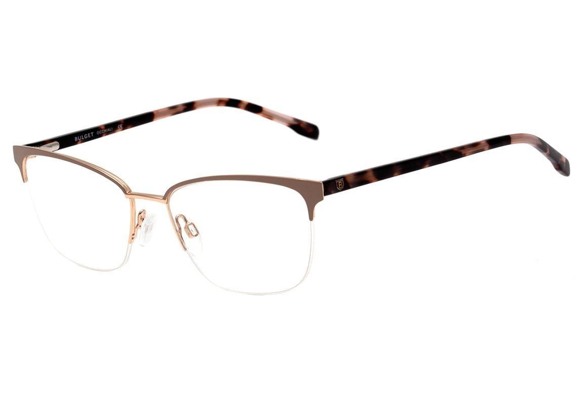 cc5683b05b317 bulget bg 1528 - óculos de grau 04as bege fosco e marrom mes. Carregando  zoom.