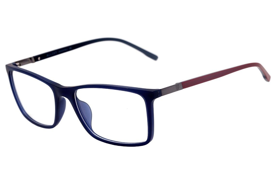 19eba306d3e31 Bulget Bg 4029 N - Óculos De Grau T02 Azul Fosco E Vermelho - R  225 ...