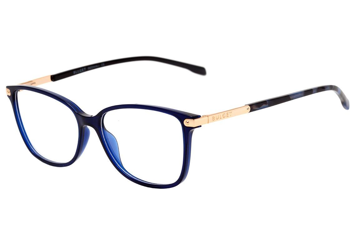 d6039b5b431c3 Bulget Bg 4062 - Óculos De Grau T04 Azul E Dourado Brilho - - R  149 ...