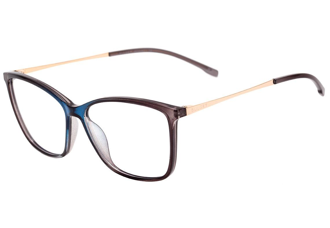 cb014f23af226 Bulget Bg 4080 - Óculos De Grau C01 Azul E Preto - R  289