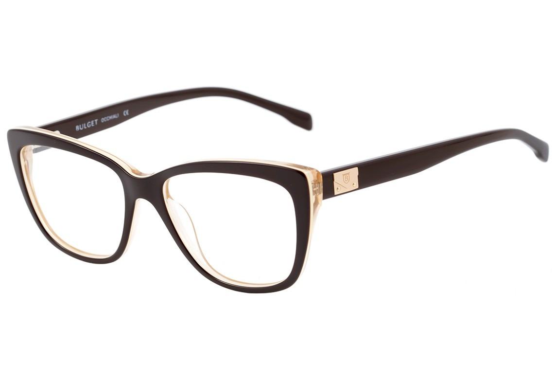 2b82c42426a4a bulget bg 6190 - óculos de grau h02 marrom e bege. Carregando zoom.