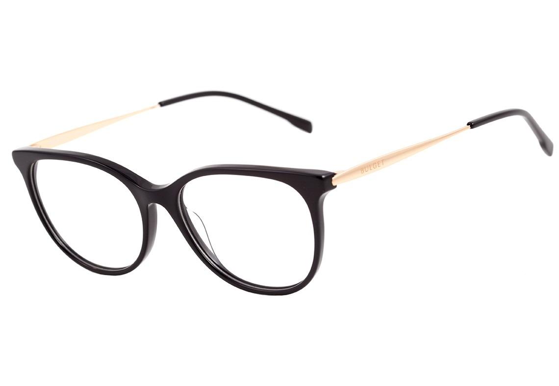 83fb37ffc5842 bulget bg 6212 - óculos de grau a01s preto e dourado brilho. Carregando  zoom.