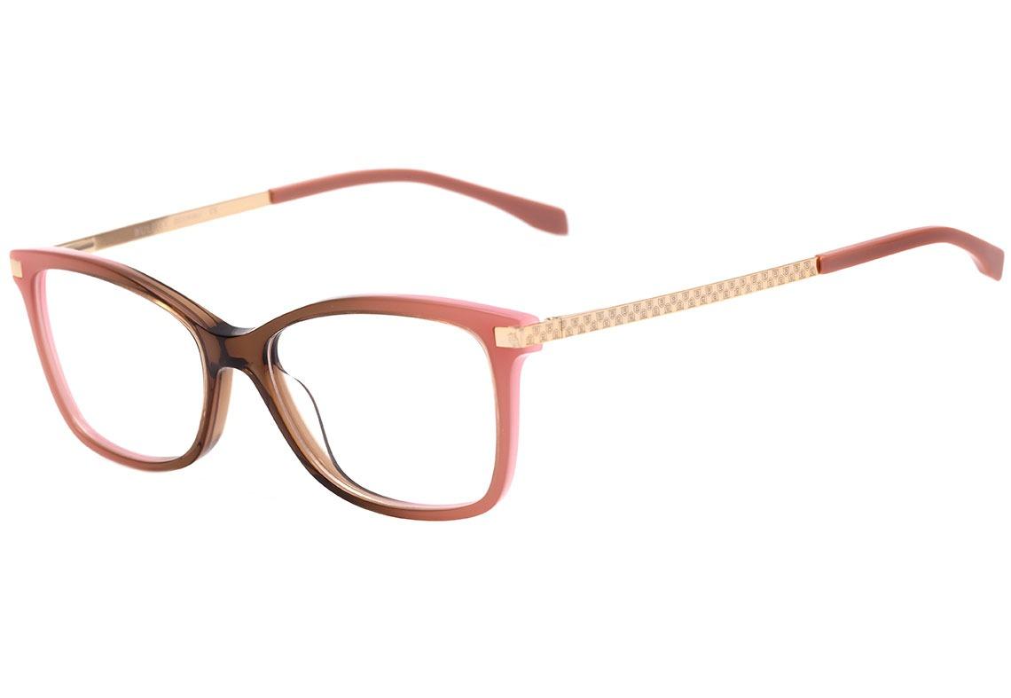 147261cd3667e Bulget Bg 6266 - Óculos De Grau C03 Rosa E Marrom Brilho - - R  259 ...