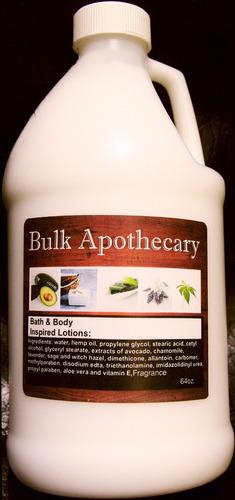 bulk apothecary - cremas corporales 1.8lts bath&body