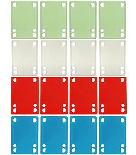 Bulk Dime Bag Skateboard Risers 1//8 Colored Riser Pads 8 Sets Shop Display Case