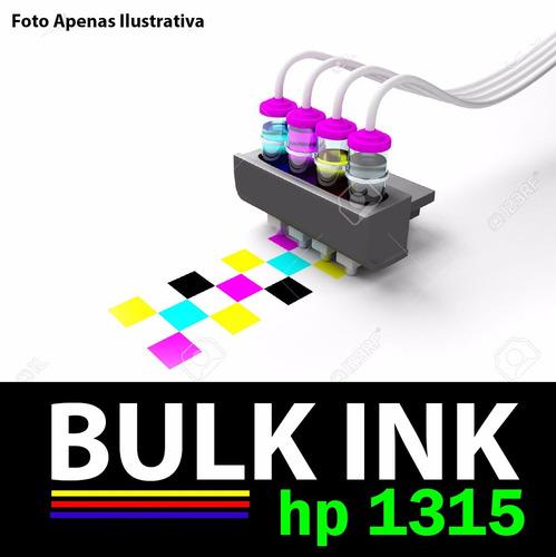 bulk ink hp 1315 + 120ml de tinta alemã de alta qualidade.