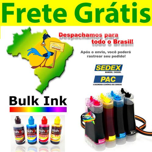 bulk ink hp 1315 + 400ml tinta alemã + presilhas especiais
