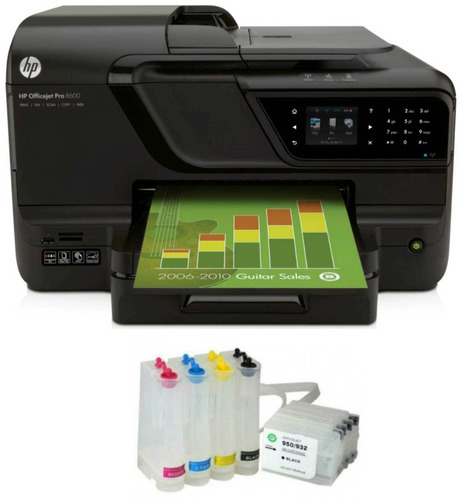 bulk ink hp pro 8100 8600 8610 com cartuchos e chips