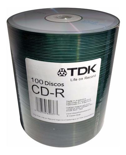 bulk x100 cd tdk 700m -r estampado 52x - factura a / b