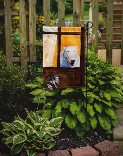 Bull terrier bandera el tama o de su jard n en for Banderas decorativas para jardin