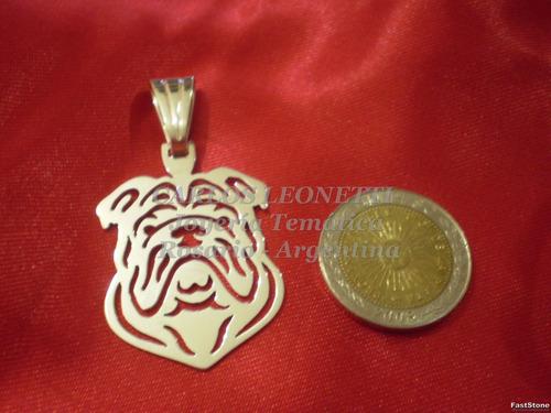 bulldog inglés - importante dije totalmente en plata 950.