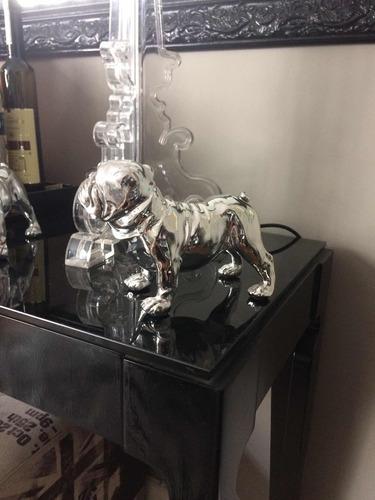 bulldoge prateador decoração luxo