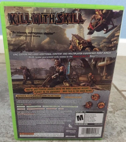 bulletstorm xbox 360 + envio gratis