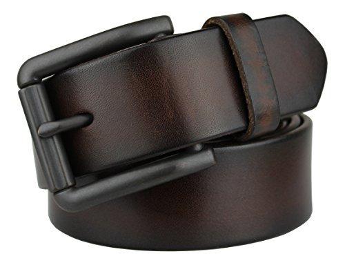 bullko cinturon de cuero genuino de los hombres cinturon de
