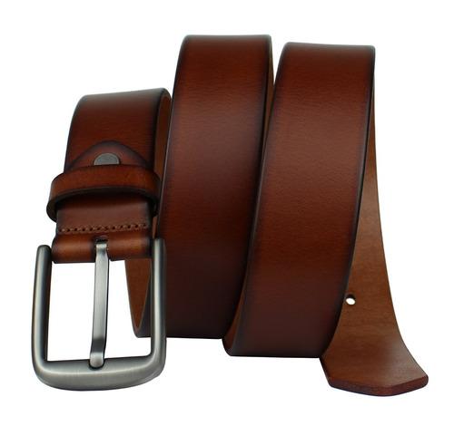 bullko hombres cinturón de cuero de vestir informal con hebi