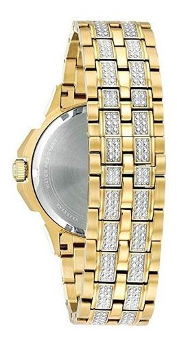 bulova 98c126 relogio masculino com cristais de swarovski