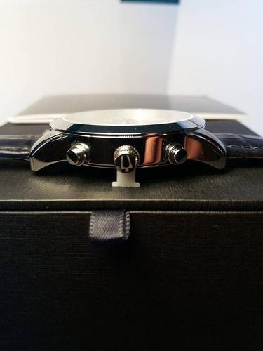 bulova cronógrafo couro 96a162 40mm - 12x sem juros