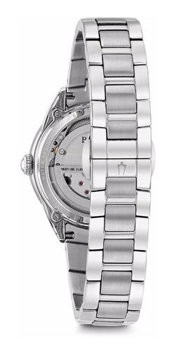 bulova diamond open heart automático original 96p181